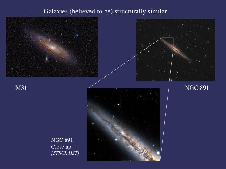 Galaxies (believed to be) structurally similar