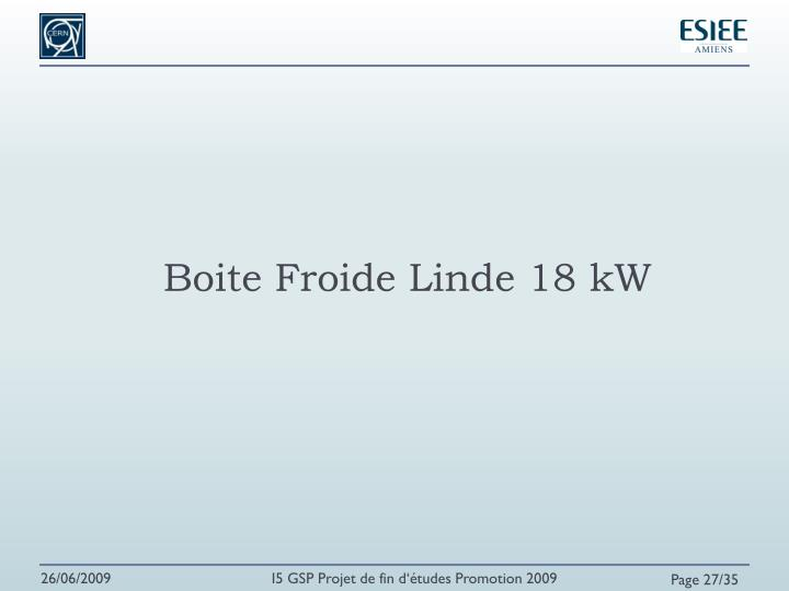 Boite Froide Linde 18 kW