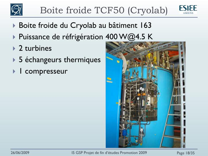 Boite froide TCF50 (Cryolab)