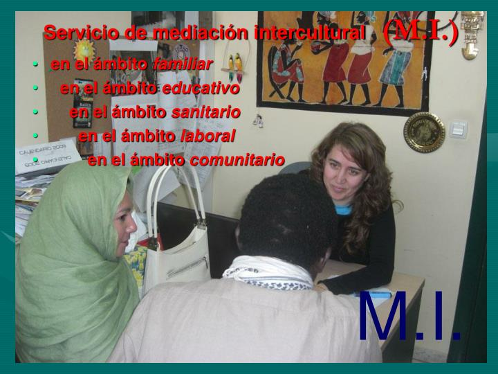 Servicio de mediación intercultural