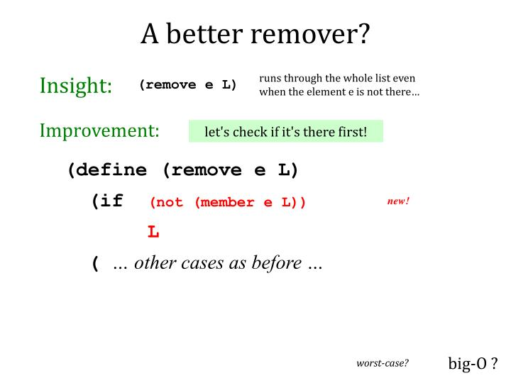A better remover?