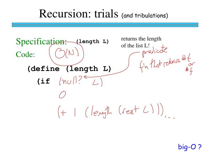 Recursion: trials