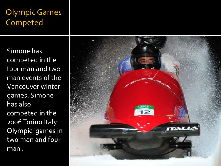 Olympic Games Competed