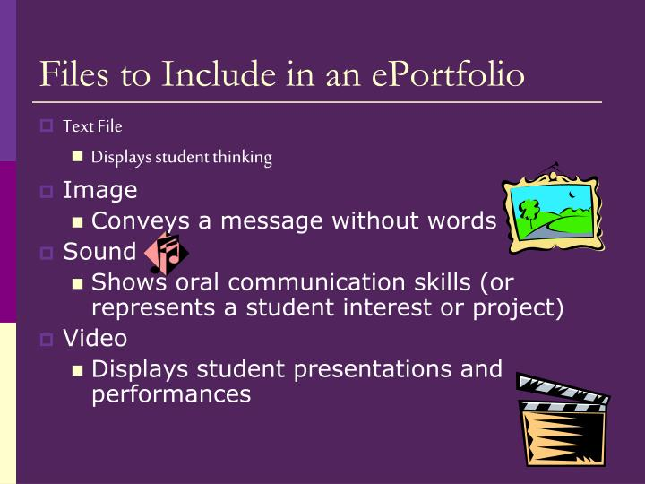 Files to Include in an ePortfolio