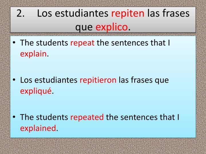 2.Los estudiantes