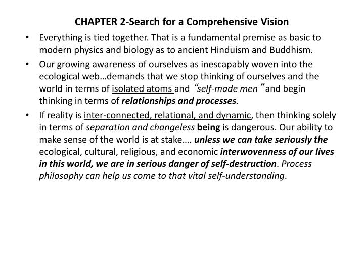 chapter 2 search for a comprehensive vision