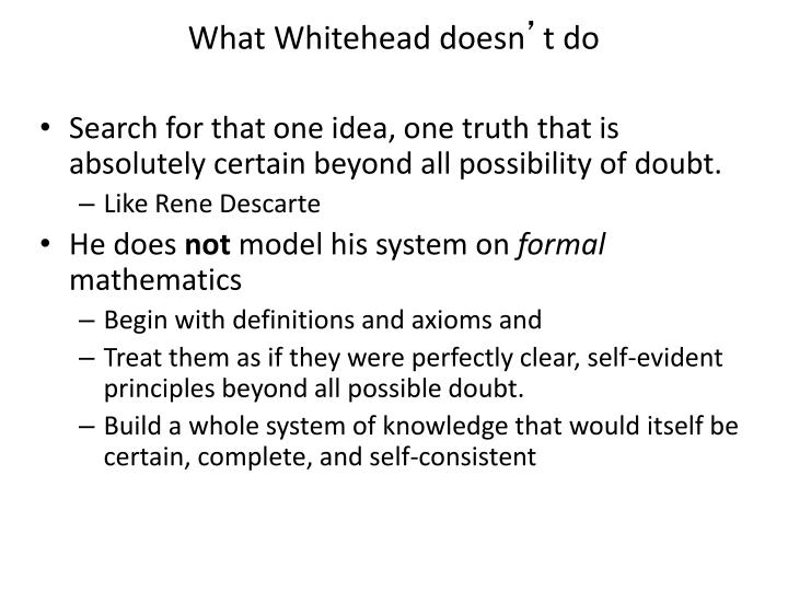 What Whitehead doesn
