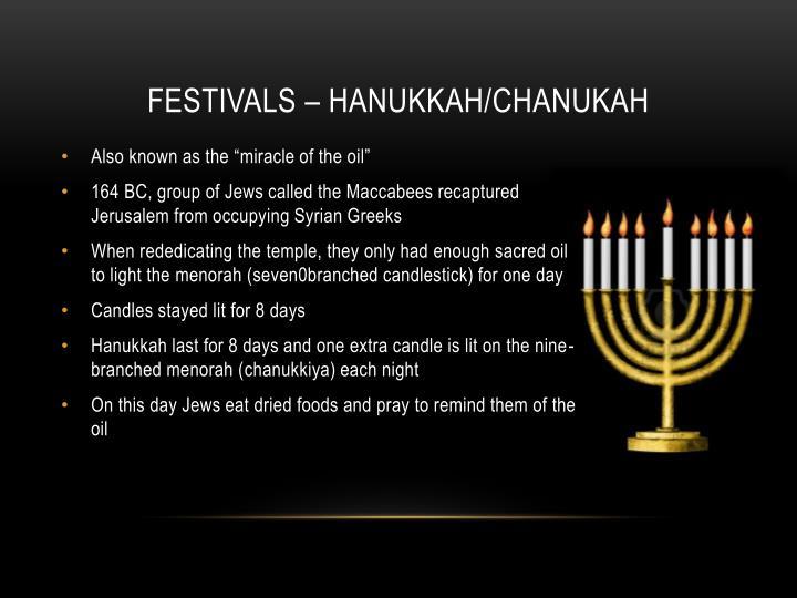 Festivals – Hanukkah/