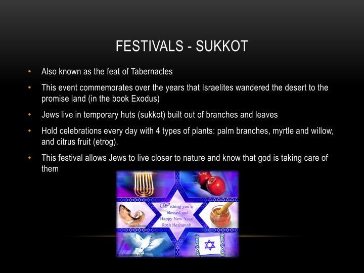 Festivals - Sukkot