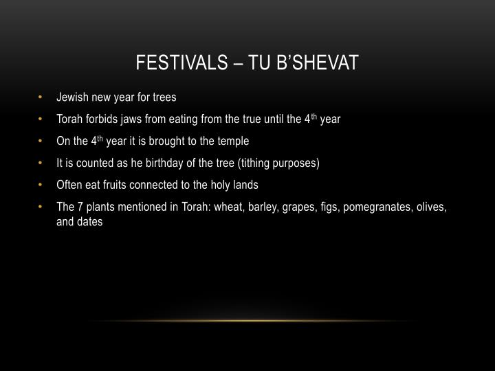 Festivals –