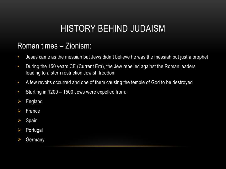 History behind Judaism