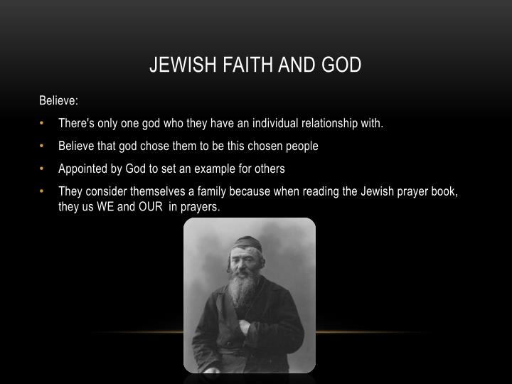 Jewish faith and god
