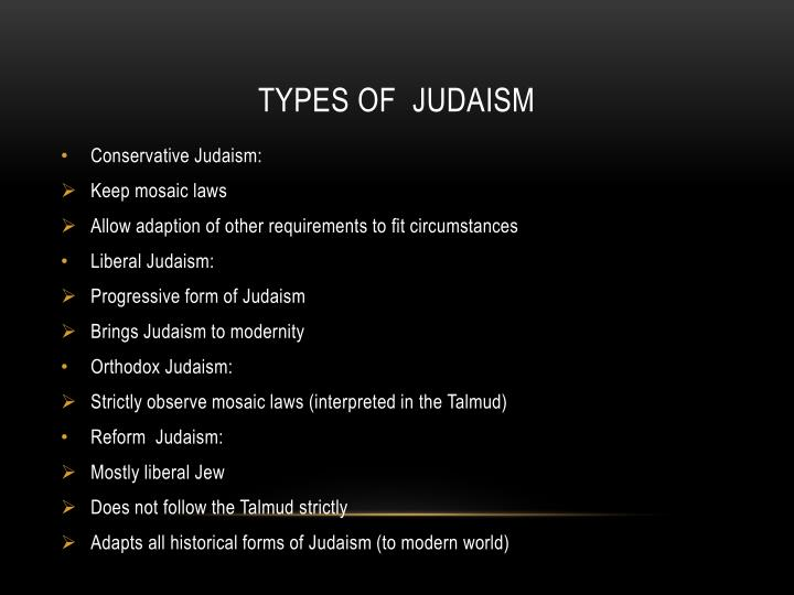 Types of judaism