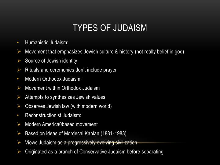 Types of judaism1
