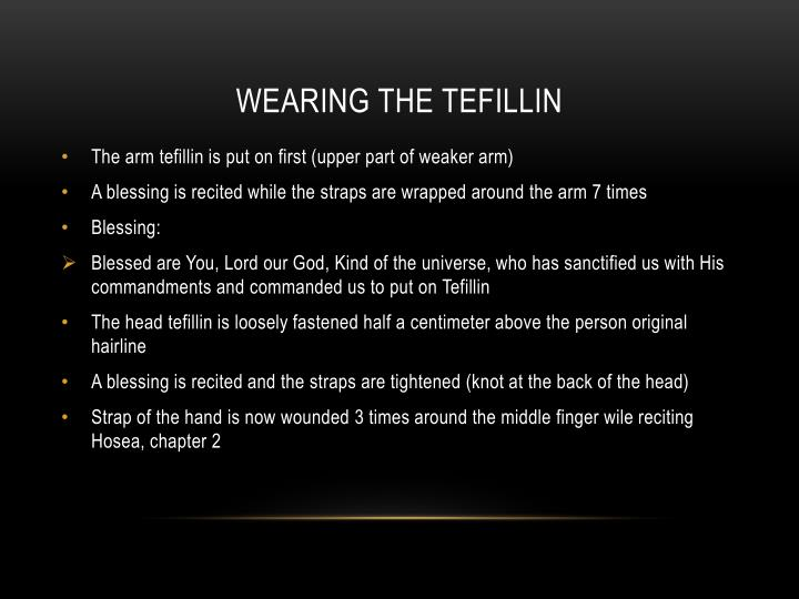 Wearing the Tefillin