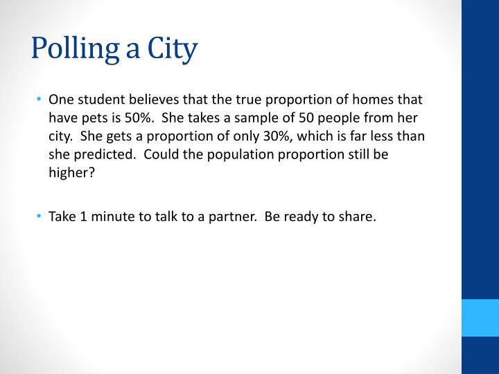 Polling a City