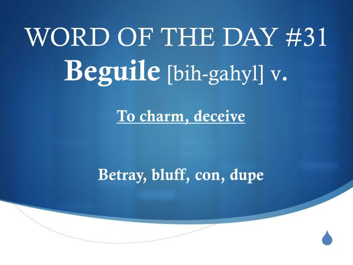 WORD OF THE DAY #31