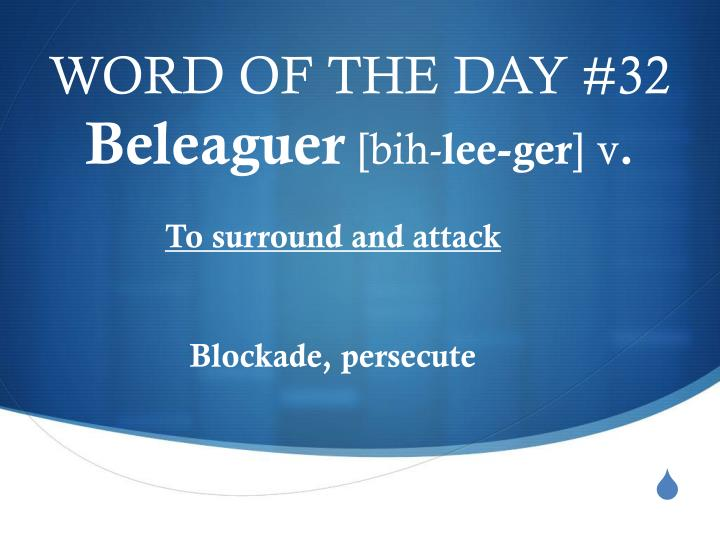 WORD OF THE DAY #32