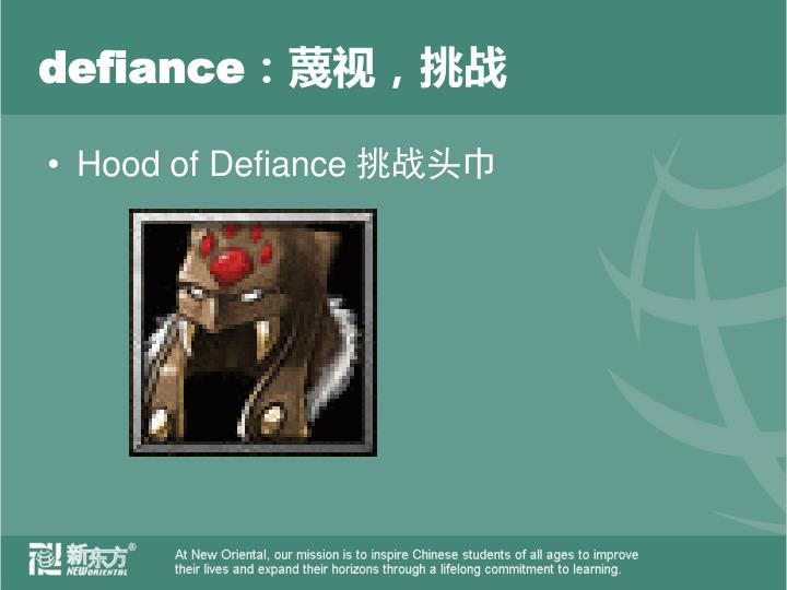 defiance:
