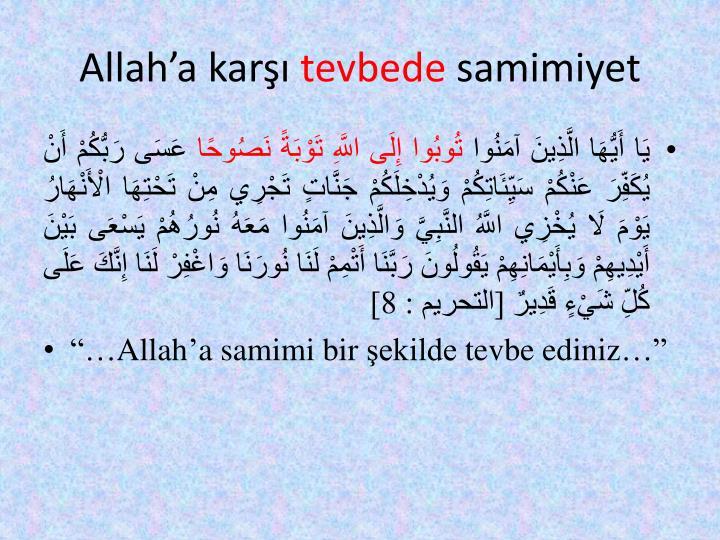 Allah'a karşı