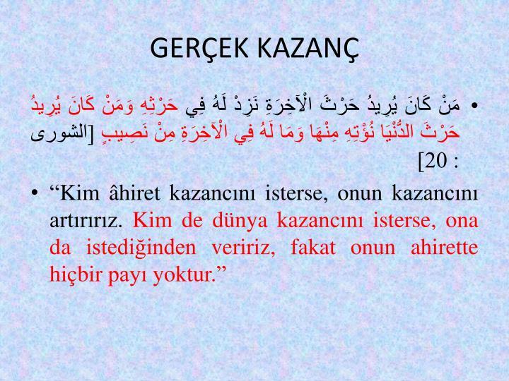GEREK KAZAN