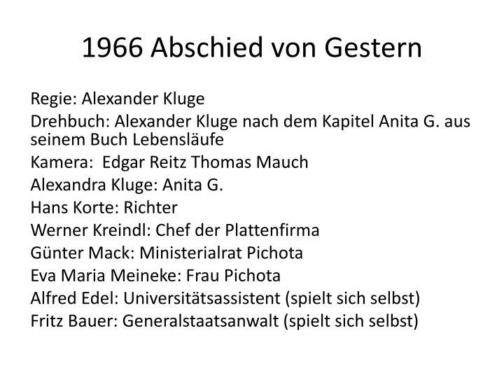 1966 Abschied von Gestern