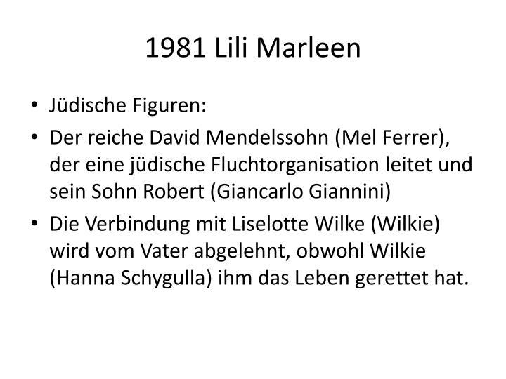 1981 Lili Marleen