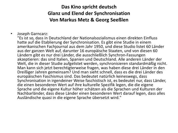 Das Kino spricht deutsch