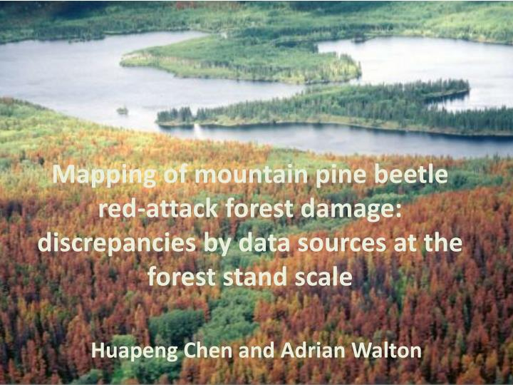 Mapping of mountain pine beetle red-attack forest damage: