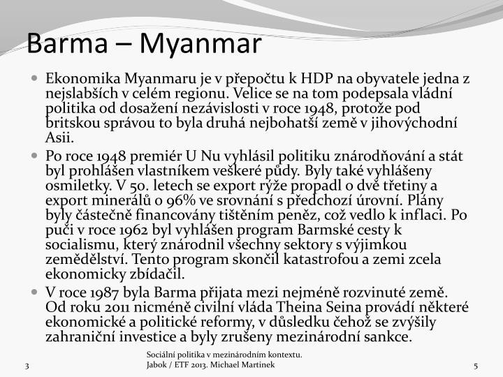 Barma  Myanmar