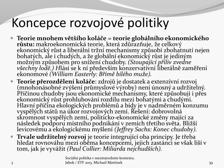 Koncepce rozvojové politiky