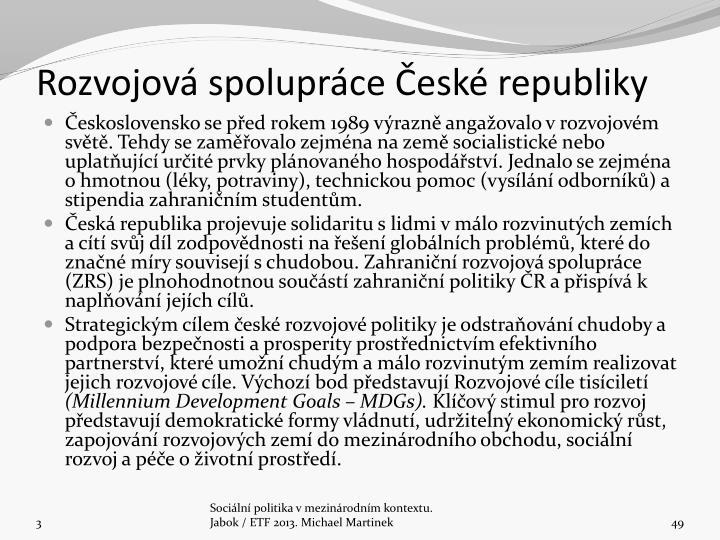 Rozvojov spoluprce esk republiky