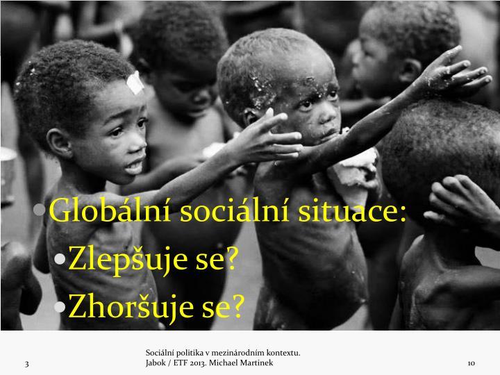 Globální sociální situace:
