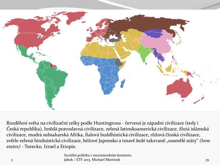 Rozdělení světa na civilizační celky podle