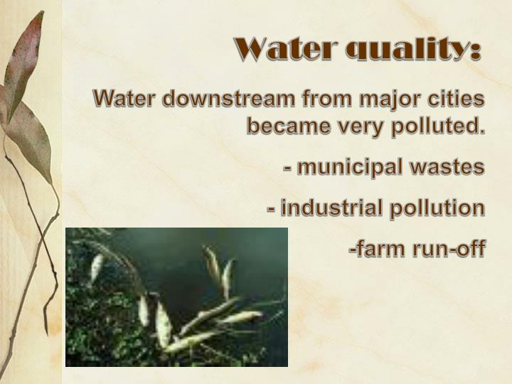 Water quality: