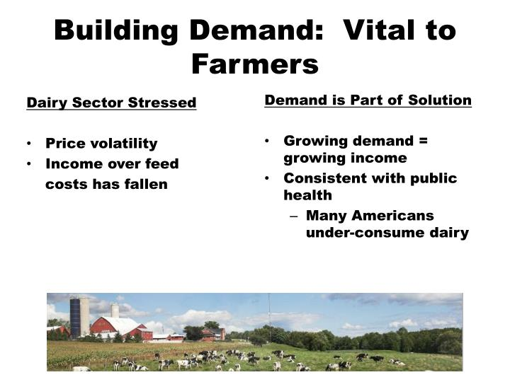 Building demand vital to farmers