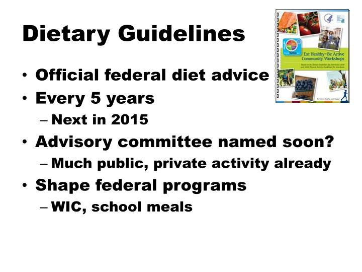 Dietary Guidelines