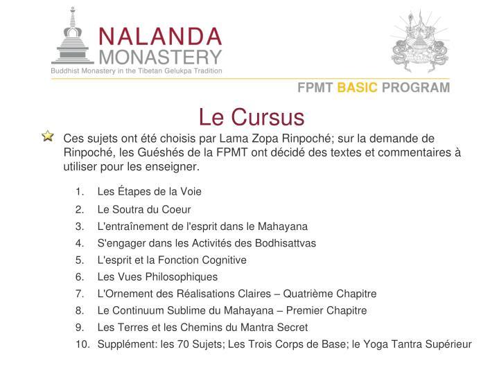 Le Cursus