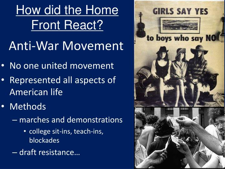 How did the Home Front React?