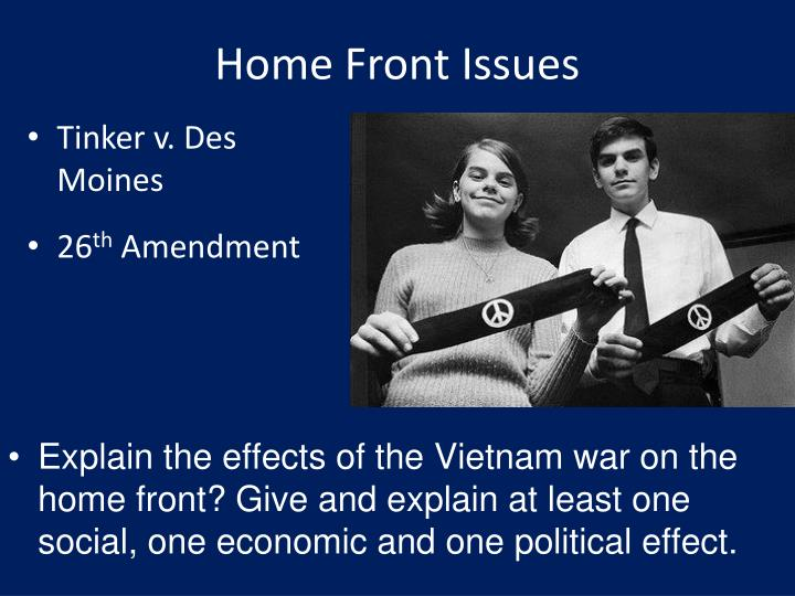 Home Front Issues
