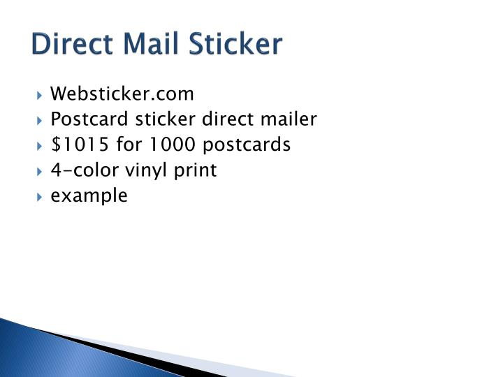 Direct Mail Sticker