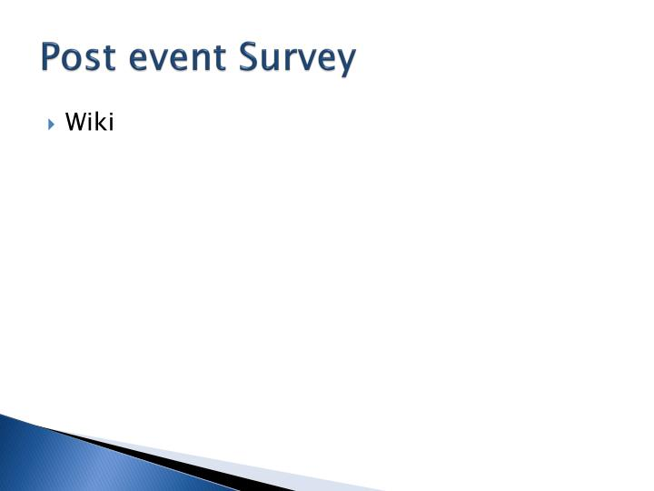 Post event Survey