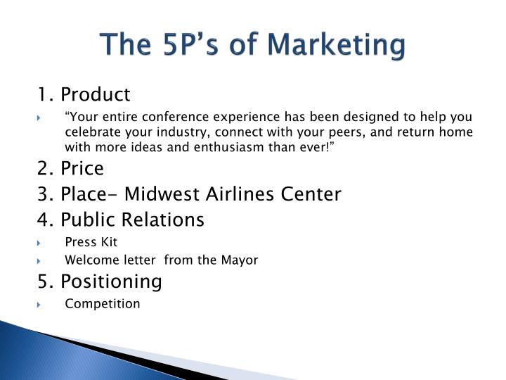 The 5P's of Marketing