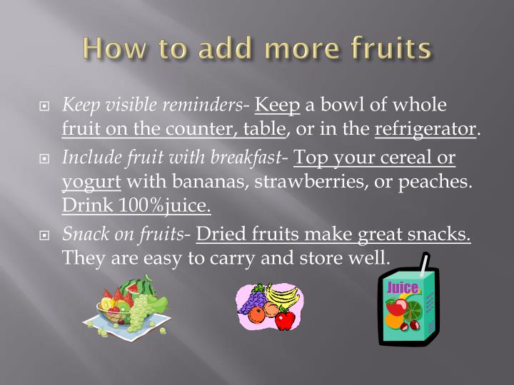 How to add more fruits