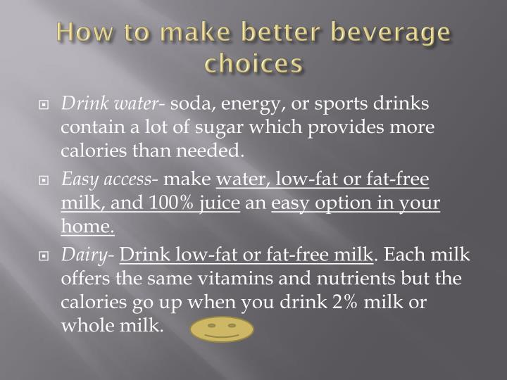 How to make better beverage choices