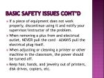 basic safety issues cont d