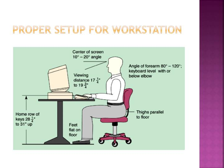 Proper setup for workstation