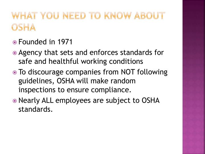 What you need to know about OSHA