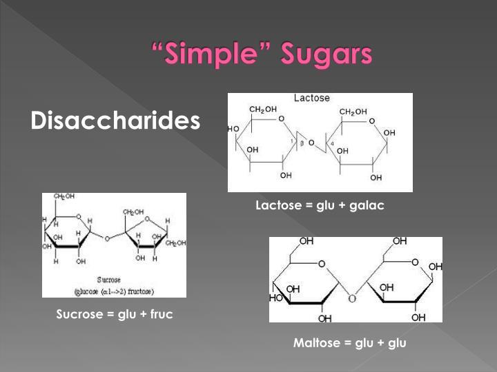 """""""Simple"""" Sugars"""