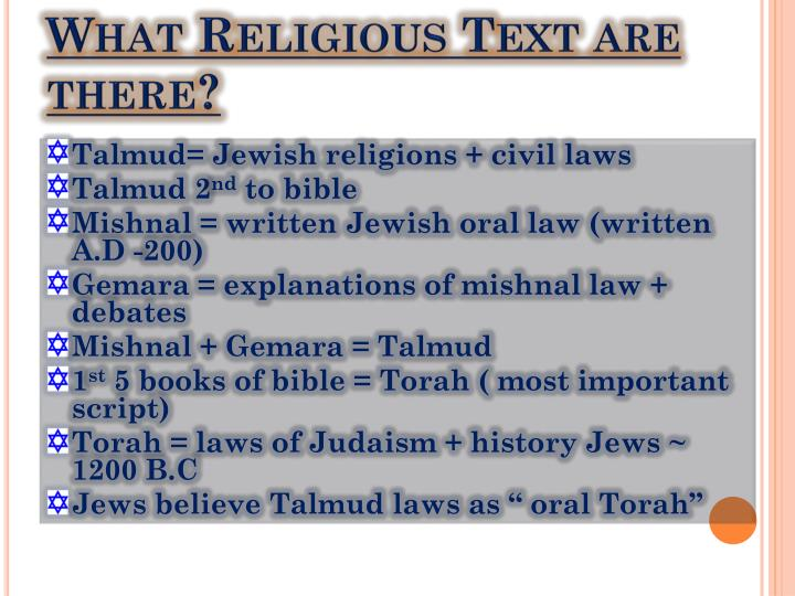 What Religious Text are there?